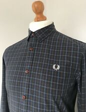 Fred Perry | Long Sleeve Button Down Collar MacLeod Tartan Shirt Medium (Navy)