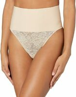 Maidenform TRANSPARENT/NUDE LACE Tame Your Tummy Shaping Lace Thong, US Medium