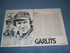 "1979 Don ""Big Daddy"" Garlits Vintage Drag Racer Profile Article ""250mph 5.63"""