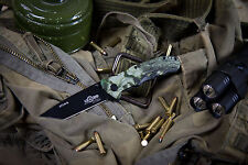 "Russian Tactical Folding knife ""Attack"" Black Kizlyar Supreme knive (8Cr13Mov)"