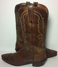 LUCCHESE 1883 Brown Leather Western Cowboy Boots Men's Size 8 D