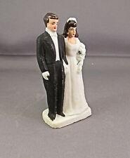 Vintage Antique Bisque WEDDING CAKE BRIDE & GROOM Topper Japan