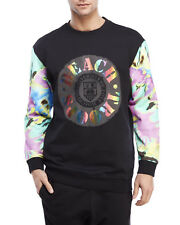 New LOVE MOSCHINO Black Beach Troops Graphic Logo Cotton Sweatshirt Sz M Medium