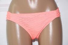 NEW Hula Honey Coral Tab Sides Crochet Lace Hipster Bikini Bottom L Large