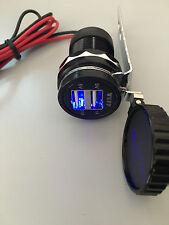 De 12v A 5v Moto Teléfono Móvil Usb Cargador Power Adaptador Socket Impermeable del Reino Unido