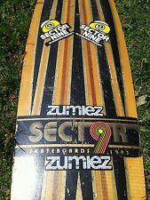 Vintage Sector Nine 9 Skateboard deck  Longboard 1993  inlaid wood stickered