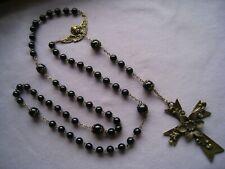 Rosenkranz echte Onix Perlen ca.8 mm + Bronze