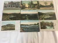 9 VINTAGE Post Cards of Various Towns and Scenes of New Hampshire