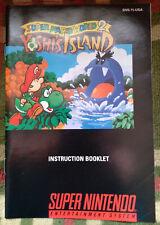 Original Yoshi's Island instruction manual booklet SNES Super Mario World 2