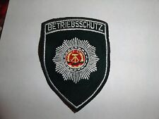 MILITARY  PATCH CLOTH FORMER EAST GERMANY GERMAN MADE BETRIEBSSCHUTZ GREEN