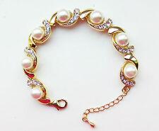 Pearl Diamante Bracelets