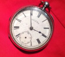 Silver Cased Waltham Pocket Watch For Spares Or Repair