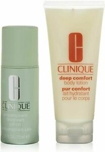 CLINIQUE Body Care Basics 2 Piece Set 75ml Deodorant Roll-On & 100ml Body Lotion
