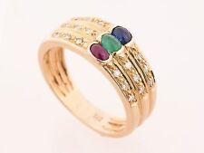Echte Edelstein-Ringe aus Rotgold mit Saphir für Damen