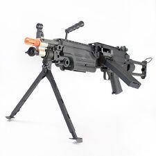 M249 Para Airsoft Gun Machine Gun Full Metal Gearbox Auto AEG Rifle Black