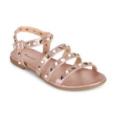 NEW Wanted Valente Rose Gold Sandals 10 M In Box - Edgy Metallic Studs
