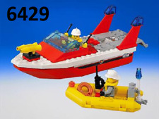 LEGO RIPTIDE RACER 4002 Set Classic Town speed boat race fig floats no stickers