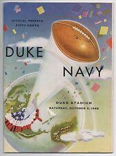 1948 Duke vs Navy College Football Program and Ticket