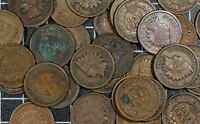 Indian Cents Old US Copper Cents 50 Coin Lot Roll Obsolete US Type Old Penny