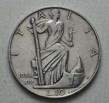 1936 Regno D'Italia  10  lire
