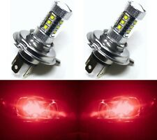 LED 80W 9003 HB2 H4 Red Two Bulbs Head Light Replacement Snowmobile