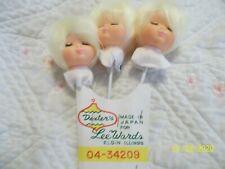 👀 Vintage Rubber Angel Face Doll Picks x 4 ✨ Dexter Crafts for Lee Wards