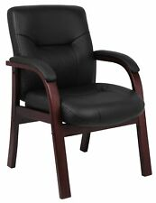 Boss Leather Executive Chair In Black Finish B8909
