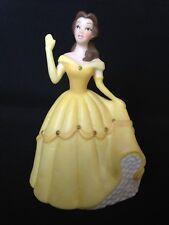 Disney World Belle Princess Figurine Yellow Dress China Beauty Beast statue Girl