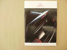 Honda. range.brochure 1998.Integra R. NSX. PLUS