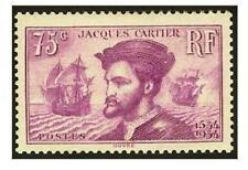 "FRANCE STAMP TIMBRE N° 296 ""JACQUES CARTIER AU CANADA 75c LILAS "" NEUF xx LUXE"