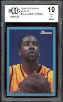 2009-10 Bowman 48 Blue #104 James Harden Rookie Card BGS BCCG 10 Mint+