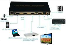 HDMI Switch 3x1 V1.4 Support Full 3D 4Kx2K+ Audio extractor Para televisión HDTV