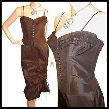 Maria Bianco Nero STEAMPUNK Silk Corset Top Skirt S