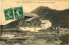 CPA 73 Savoie Châlet-Hôtel du CAF au Mont Jovet animé