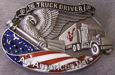 Pewter Belt Buckle American Truck Drivers NEW Hero Series