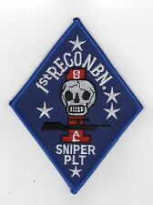 1st Recon Bn Sniper BC Patch Cat No M0648