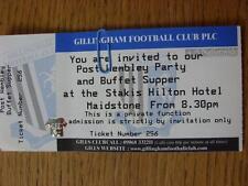 30/05/1999 BIGLIETTO: play-off Finale Divisione 2-invitare/biglietto per le Gillingham F