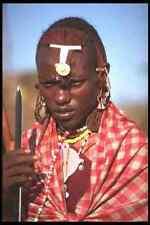 481009 Maasai Warrior Tanzania Africa A4 Photo Print