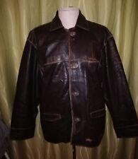 Vintage Pall Mall Leather Aviator Bomber Flight Jacket  XL Lederjacke Brown