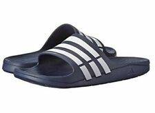 adidas Duramo Men's Slides - Size 9 - Dark Blue/White