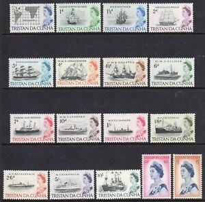 Tristan da Cunha 1965/7 Definitive set fine fresh MNH
