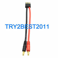 Traxxas TRX Male To 4mm Bullet Banana plug Works w/ Hyperion Charger Adapter