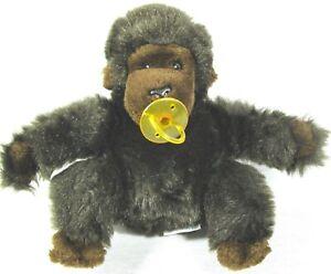 "Vintage Dakin 1983 Baby Gorilla 9"" Plush w/Pacifier Stuffed Animal Toy"