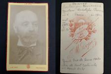 Lopez, Paris, Gustave Boulanger Vintage carte de visite, CDV. Gustave Rodolphe