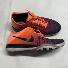 Nike Free TR 6 Womens Sz7 Training Running Athletic Shoes Neon Orange Pink EUC