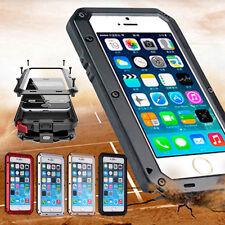 Wasserdichte Schutzhülle Metall + Silikon mit Panzerglas für iPhone 7 6s Plus