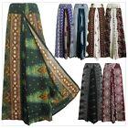 New Ladies Wide Leg Pants Palazzo Sarong Bohemian Gypsy Hippie Trousers Wrap