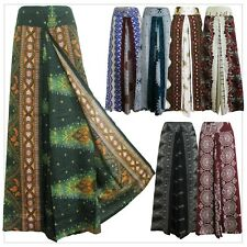 New Ladies Wide Leg Pants Palazzo Sarong Bohemian Gypsy Hippie Trousers Wrap