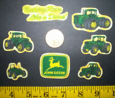 New! Cool!! Little John Deere IRON-ONS FABRIC APPLIQUES IRON-ONS