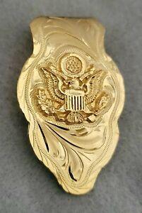 Beautiful   24k plated  coin Money Clip handmade engraved alpaca metal made Cash